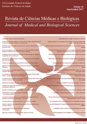 Visualizar v. 16 n. 1 (2017): REVISTA DE CIÊNCIAS MÉDICAS E BIOLÓGICAS
