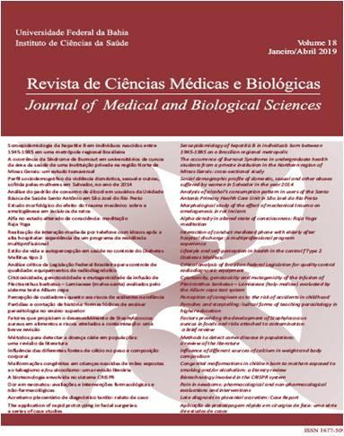Visualizar v. 18 n. 1 (2019): Revista de Ciências Médicas e Biológicas