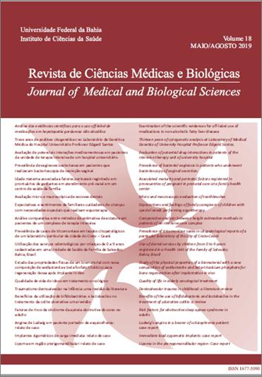 Visualizar v. 18 n. 2 (2019): Revista de Ciências Médicas e Biológicas