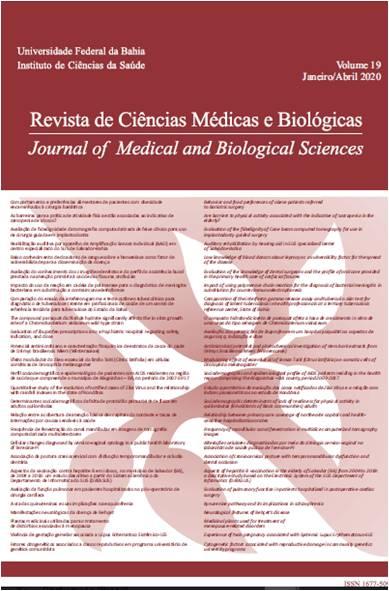 Visualizar v. 19 n. 1 (2020): Revista de Ciências Médicas e Biológicas