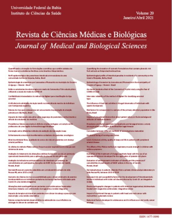 Visualizar v. 20 n. 1 (2021): Revista de Ciências Médicas e Biológicas