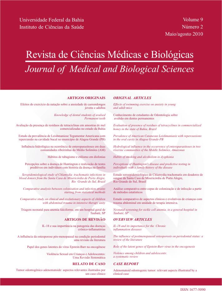 Visualizar v. 9 n. 2 (2010): Revista de Ciências Médicas e Biológicas