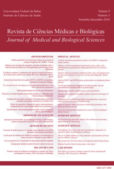 Visualizar v. 9 n. 3 (2010): Revista de Ciências Médicas e Biológicas
