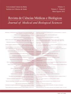 Visualizar v. 11 n. 2 (2012): (Especial) Revista de Ciências Médicas e Biológicas