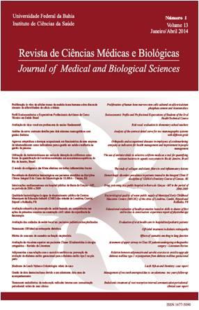 Visualizar v. 13 n. 1 (2014): REVISTA DE CIÊNCIAS MÉDICAS E BIOLÓGICAS