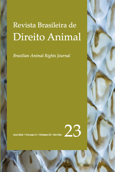 Visualizar v. 11 n. 23 (2016): Revista Brasileira de Direito Animal