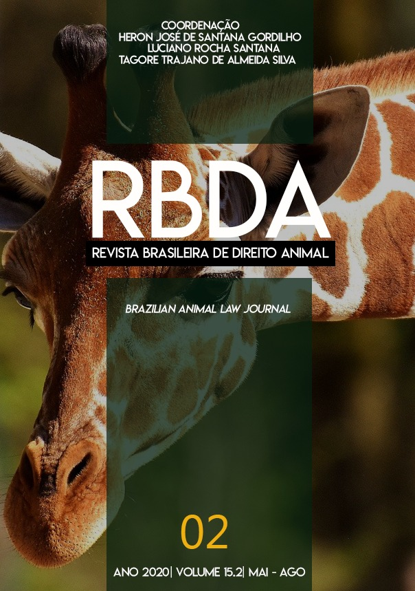 Visualizar v. 15 n. 2 (2020): Revista Brasileira de Direito Animal