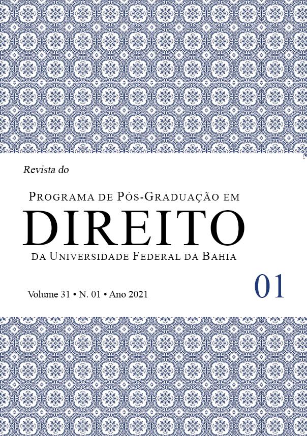 Visualizar v. 31 n. 1 (2021): Revista do Programa de Pós-Graduação em Direito da UFBA