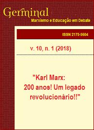 Visualizar v. 10 n. 1 (2018): KARL MARX: 200 ANOS! UM LEGADO REVOLUCIONÄRIO!!