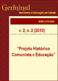 Visualizar v. 2 n. 2 (2010): PROJETO HISTÓRICO COMUNISTA E EDUCAÇÃO