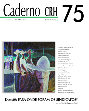 Visualizar v. 28 n. 75 (2015): V. 28,Nº 75,Set./Dez. 2015. Dossiê: PARA ONDE FORAM OS SINDICATOS? Coord. Marco Aurélio Santana