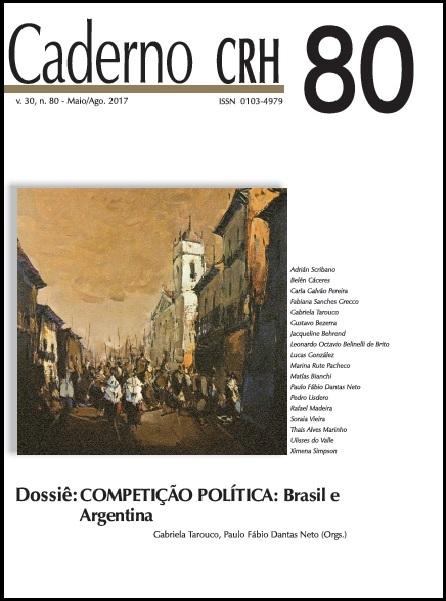 Visualizar v. 30 n. 80 (2017): DOSSIÊ: COMPETIÇÃO POLÍTICA: Brasil e Argentina. COORD. Gabriela Tarouco, Paulo Fábio Dantas Neto
