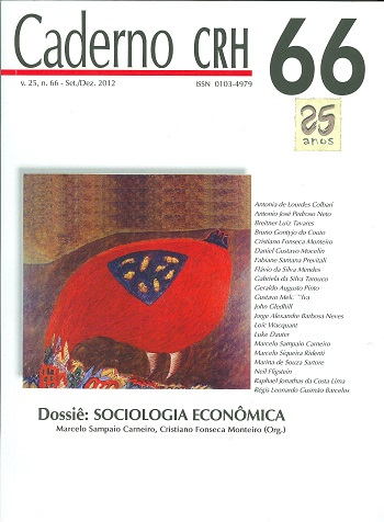Visualizar v. 25 n. 66 (2012): DOSSIÊ: Sociologia Econômica. Coord. Marcelo Sampaio Carneiro, Cristiano Fonseca Monteiro