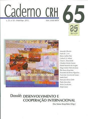 Visualizar v. 25 n. 65 (2012): DOSSIÊ: Desenvolvimento e Cooperação Internacional. Coord. Elsa Sousa Kraychete