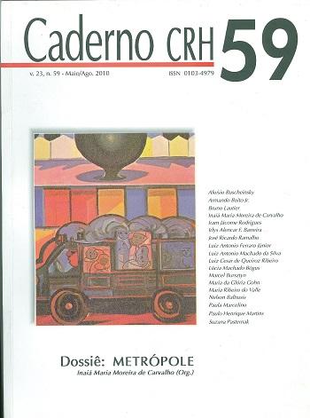 Visualizar v. 23 n. 59 (2010): DOSSIÊ: Metrópole. Coord. Inaiá Maria Moreira de Carvalho