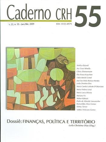 Visualizar v. 22 n. 55 (2009): DOSSIÊ: Finanças, Política e Território - Coord. Leila Christina Dias (Org.)