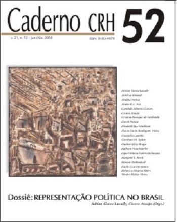 Visualizar v. 21 n. 52 (2008): DOSSIÊ: Representação Política no Brasil - Coord. Adrian Gurza Lavalle, Cicero Araujo