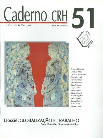 Visualizar v. 20 n. 51 (2007): DOSSIÊ: Globalização e Trabalho - Coord. Paola Cappelin, Christian Azaïs (Org.)