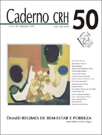 Visualizar v. 20 n. 50 (2007): DOSSIÊ: Regimes de Bem-Estar e Pobreza - Coord. Anete Brito Leal Ivo (Org.)