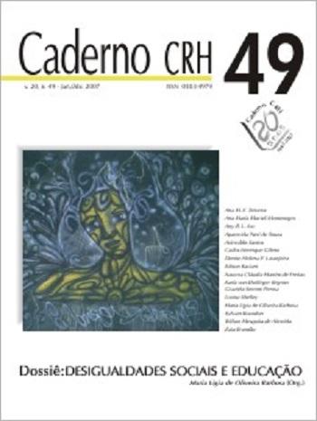 Visualizar v. 20 n. 49 (2007): DOSSIÊ: Desigualdades Sociais e Educação - Coord. Maria Ligia de Oliveira Barbosa (Org.)