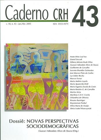 Visualizar v. 18 n. 43 (2005): DOSSIÊ: Novas Perspectivas Sociodemográficas - Guaraci Adeodato Alves de Souza (Org.)