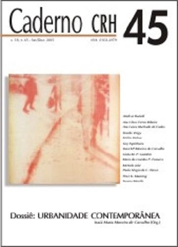 Visualizar v. 18 n. 45 (2005): DOSSIÊ: Urbanidade Contemporânea - Inaiá Maria Moreira de Carvalho (Org.)